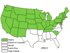 Native States for Biennial Wormwood (Artemisia Biennis)
