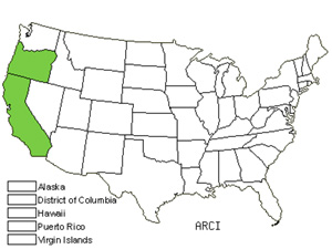 Native States for Waldo Manzanita (Arctostaphylos Cinerea)