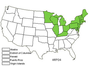 Native States for Roman Wormwood (Artemisia Pontica)