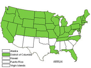 Native States for Horseradish (Armoracia Rusticana)