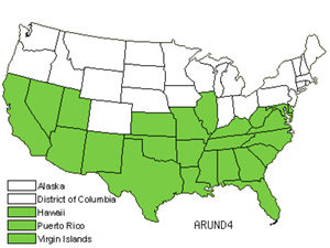 Native States for Giant Reed (Arundo)