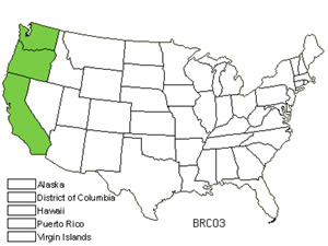 Native States for Crown Brodiaea (Brodiaea Coronaria)