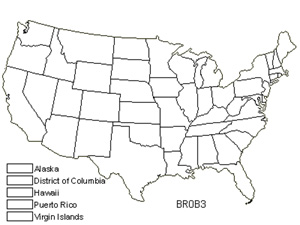 Native States for Oblong Bryum Moss (Bryum Oblongum)