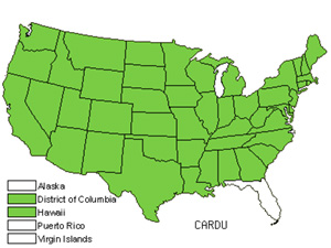Native States for Plumeless Thistle (Carduus)