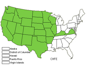 Native States for Slender Lipfern (Cheilanthes Feei)