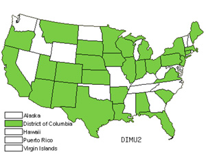 Native States for Annual Wallrocket (Diplotaxis Muralis)