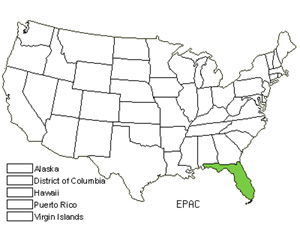 Native States for Acuna's Star Orchid (Epidendrum Acunae)