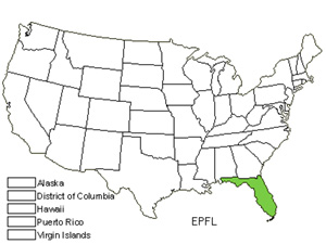 Native States for Florida Star Orchid (Epidendrum Floridense)