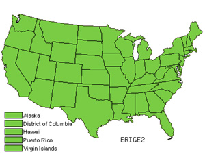 Native States for Fleabane (Erigeron)