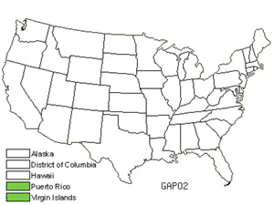 Native States for Palo De Cruz (Garcinia Portoricensis)