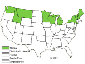 Native States for False Toadflax (Geocaulon)