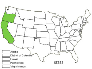 Native States for Mendocino Gentian (Gentiana Setigera)