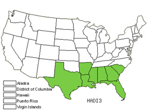 Native States for Two-Wing Silverbell (Halesia Diptera)