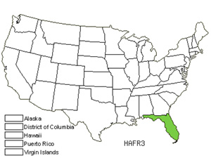 Native States for Caribbean Applecactus (Harrisia Fragrans)