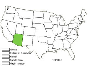 Native States for Santa Catalina Burstwort (Hermannia Pauciflora)