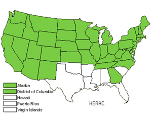 Native States for Cowparsnip (Heracleum)
