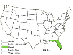 Native States for Trailing Indigo (Indigofera Hendecaphylla)