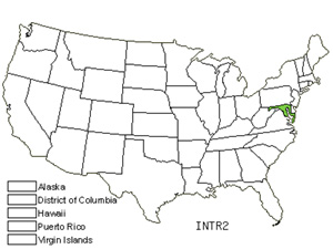 Native States for Threeleaf Indigo (Indigofera Trifoliata)
