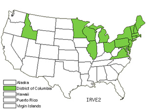 Native States for Harlequin Blueflag (Iris Versicolor)