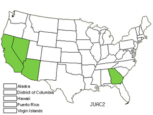 Native States for Spiny Rush (Juncus Acutus)