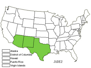 Native States for Alligator Juniper (Juniperus Deppeana)