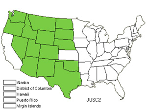 Native States for Rocky Mountain Juniper (Juniperus Scopulorum)