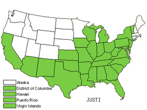 Native States for Water-Willow (Justicia)