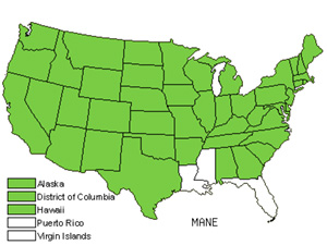 Native States for Common Mallow (Malva Neglecta)