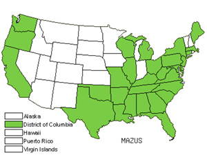 Native States for Mazus (Mazus)