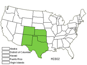 Native States for Fragrant Mimosa (Mimosa Borealis)