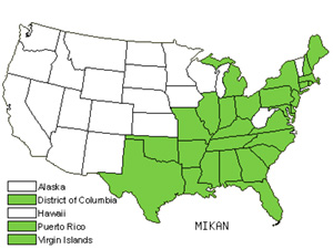 Native States for Hempvine (Mikania)