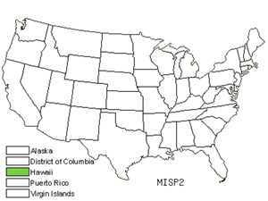 Native States for Limpleaf Fern (Microlepia Speluncae)