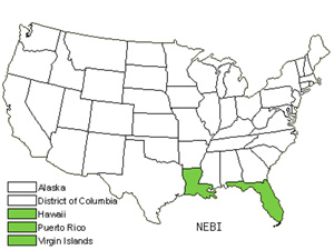 Native States for Giant Swordfern (Nephrolepis Biserrata)