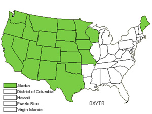 Native States for Locoweed (Oxytropis)