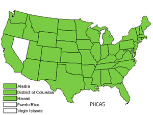 Native States for Annual Canarygrass (Phalaris Canariensis)