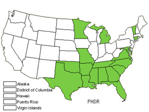 Native States for Annual Phlox (Phlox Drummondii)