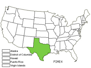 Native States for American Pistachio (Pistacia Mexicana)