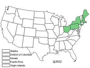 Native States for English Oak (Quercus Robur)
