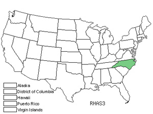 Native States for Ashe&#8217;s Sumac (Rhus Ashei)