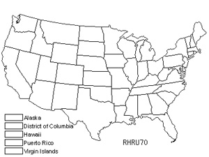 Native States for Rhytidium Moss (Rhytidium Rugosum)