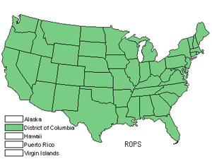 Native States for Black Locust (Robinia Pseudoacacia)