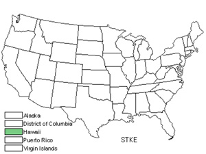 Native States for Keal's Stenogyne (Stenogyne Kealiae)
