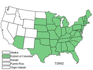 Native States for Eastern Poison Ivy (Toxicodendron Radicans)