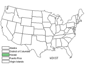 Native States for False Ohelo (Wikstroemia)