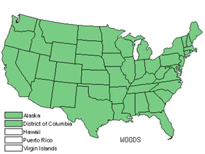 Native States for Cliff Fern (Woodsia)