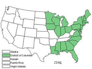 Native States for Annual Wildrice (Zizania Aquatica)