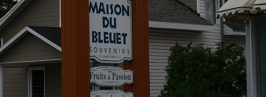 Pancarte    la maison du bleuet st felicien boutique souvenirs  c  ghislaine lalande banner