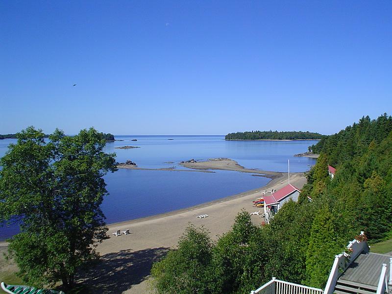 Vue plage lac big