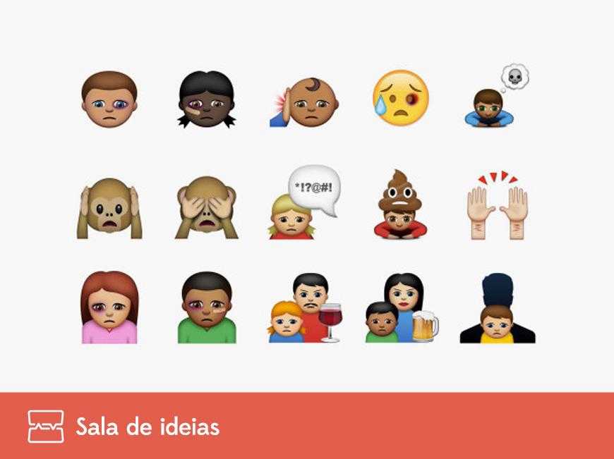 Emojis na luta contra abusos contra crianças
