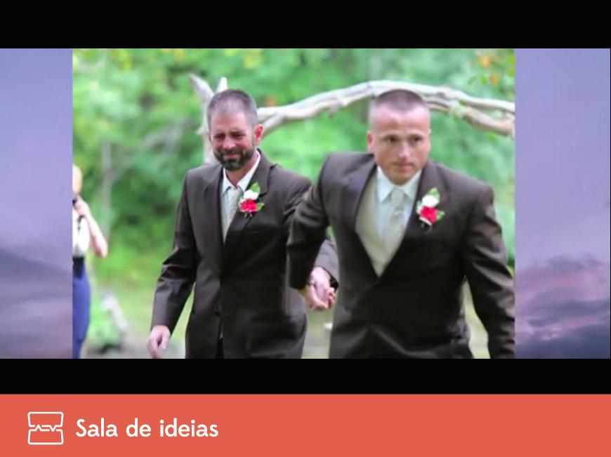 Um casamento e dois pais da noiva